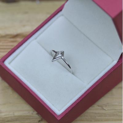Zlatý prsten s diamantem  salt and pepper 0.35 ct CHRIS