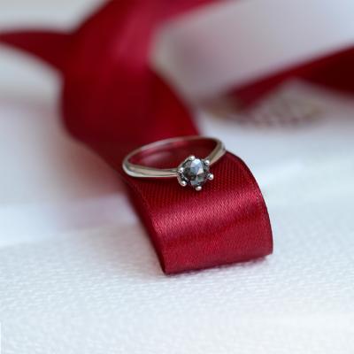 Salt and pepper diamond ring 0.5ct DORE