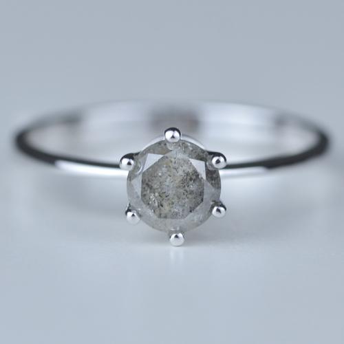 ELLERY salt and pepperdiamond ring 0.68ct