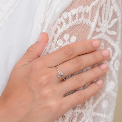 ELLERY salt and pepper diamond ring 0.68ct