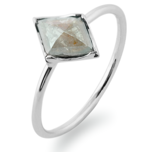 ERICA gold diamond  0.66 Ct ring in an authentic cut