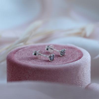Gold earrings with salt and pepper diamonds FELI
