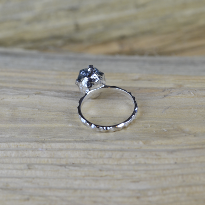Gold ring with raw diamond  3.63ct HOPE