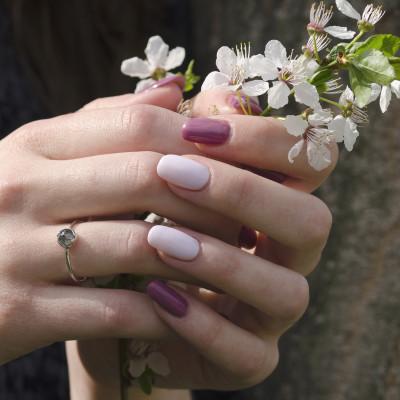 KLIO gold natural diamond 0.65Ct ring