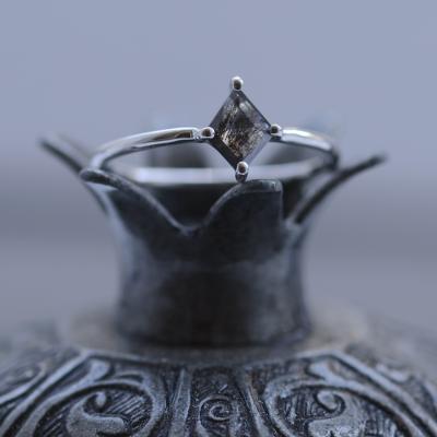 Salt and pepper diamond ring 0.38ct in a kite shape ERICA