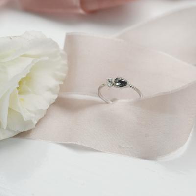Zlatý prsten s diamantem salt and pepper 0.32ct NANCY