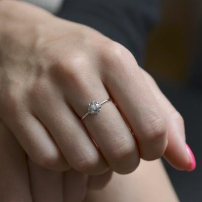 Prsten s okouzlujícím diamantem 0.64 ct RAWE