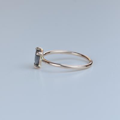 Zlatý prsten s diamantem salt and pepper 0.51ct TERRI
