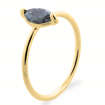 UNQE gold diamond ring 0.63 Ct