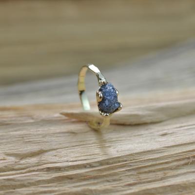 Gold ring with raw diamond  1.25ct VITA