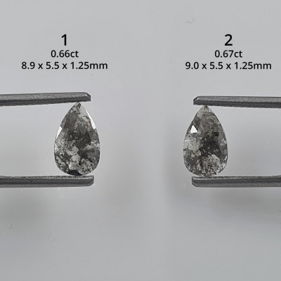 Zlatý prsten s diamantem salt and pepper  XENIA
