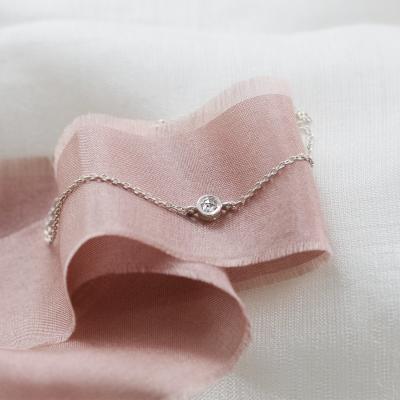 Gold bracelet with salt and pepper diamond XSANA