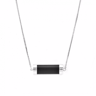Exclusive Fuse Sterling Silver necklace with Topaz