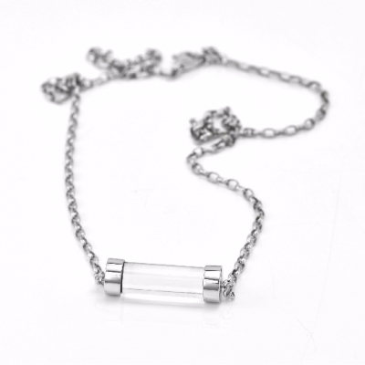 Exclusive Fuse Sterling Silver necklace with rock-crystal