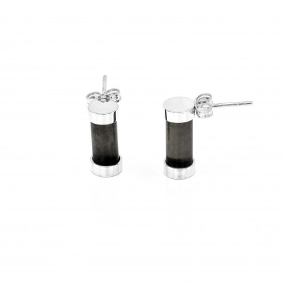 Exclusive Fuse Sterling Silver earring with Topaz