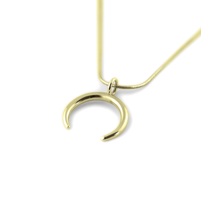 Gold necklace in the shape of crescent - ANEBY