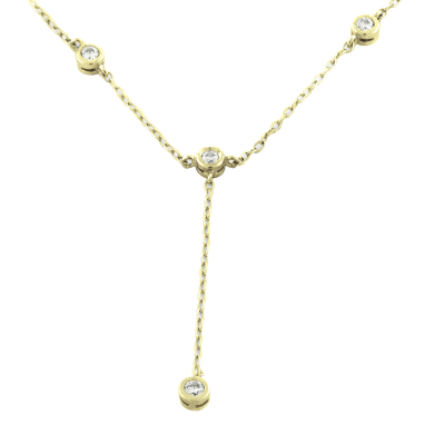 Gold necklace with diamonds ARSA