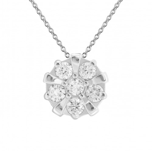 Golden amulet-pendant with ASILI diamonds