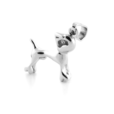 BANDE original silver pendant with the dog figure