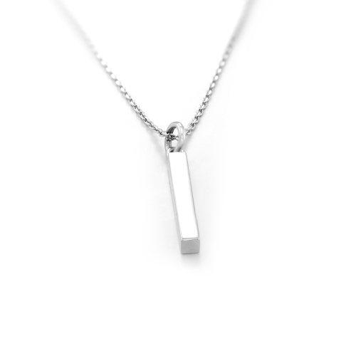 Minimalist necklace with engraving option BODO
