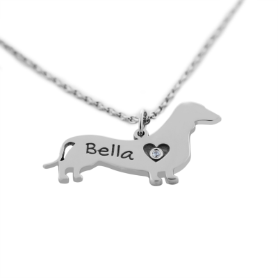 DOGY silver pendant in the shape of your pet