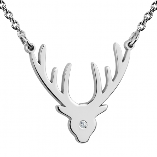 ELIANA diamond necklace of silver