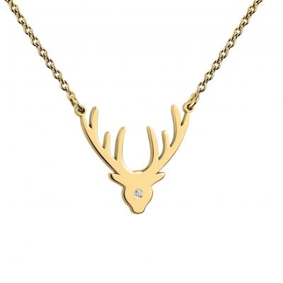 Zlatý náhrdelník ELIANA s diamantem