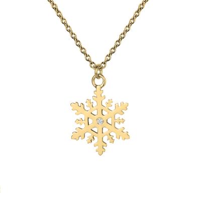 JANE Stylish gold lady's pendant with diamonds