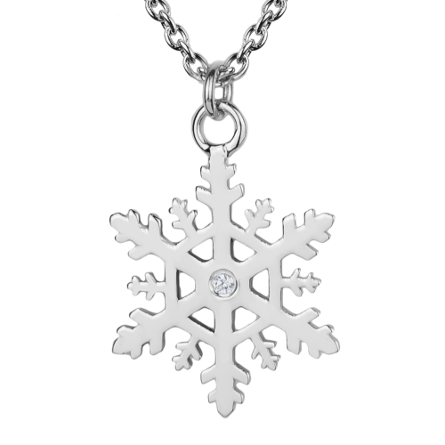 JANE Stylish silver lady's pendant with diamonds