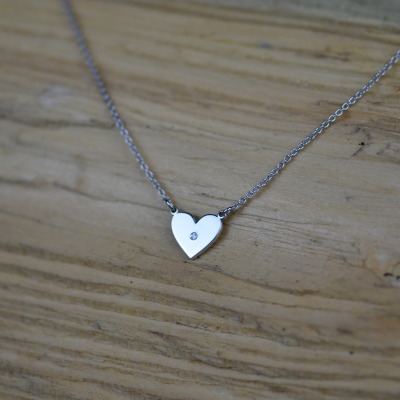 Diamond necklace in the shape of the heart LILLIAN
