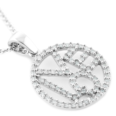 LITTE zircons silver pendant