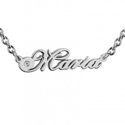Name gold necklace with diamond MARI
