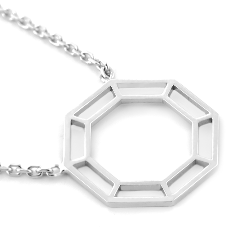MIADI diamond shape authentic gold pendant