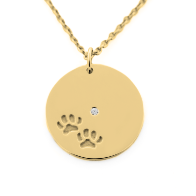 MORI golden pendant with dog traces
