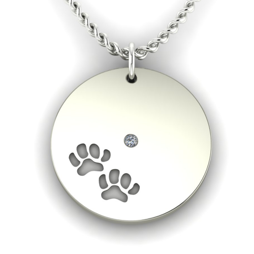 MORI silver pendant with dog traces
