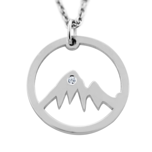 Silver diamond pendant - for the mountains enthusiasts MUNI