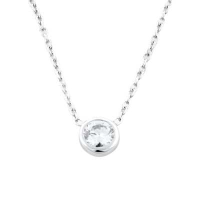 Simple Gold necklace with moissanite 0.79ct NOKKEN