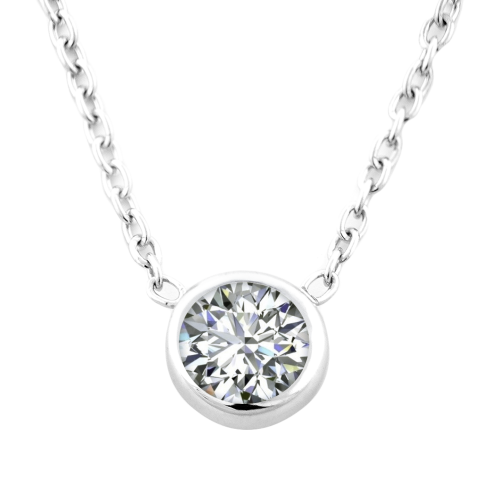 Simple Sterling Silver necklace with Zircon NOKKEN