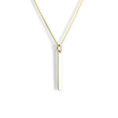 Golden minimalist necklace with engraving option ODDA