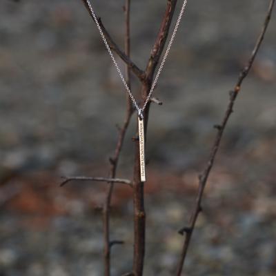 Minimalist necklace with engraving option ODDA