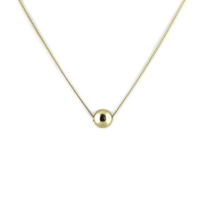 Minimalist gold ball pendant OKKE