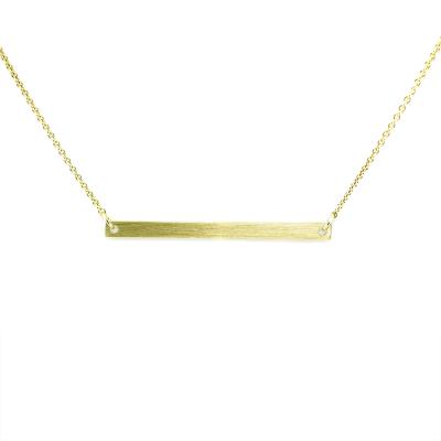 Zlatý náhrdelník v minimalistickém stylu s libovolným gravírem OSA