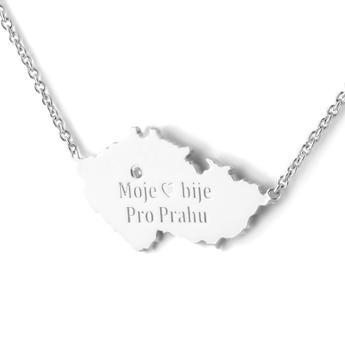 """My heart beats for Prague"" authentic silver pendant"