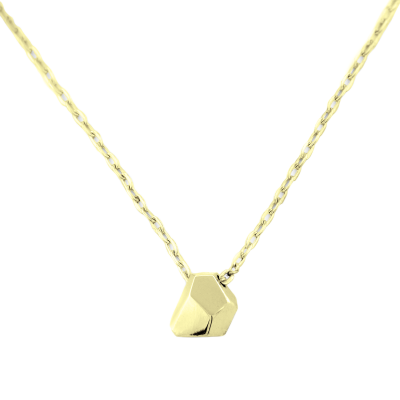 Solid gold necklace with faceted pendant RISO