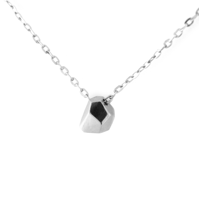 Minimalist sterling silver necklace RISO