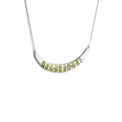 Silver necklace with gilded details VIKE
