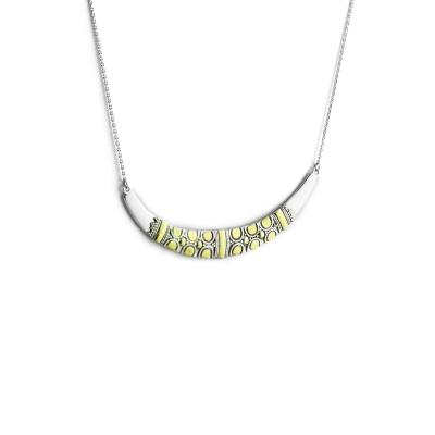 Stříbrný náhrdelník s pozlacenými detaily VIKE