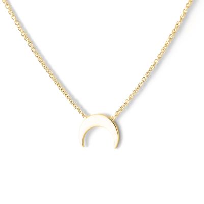 VITKE crescent-shape gold necklace