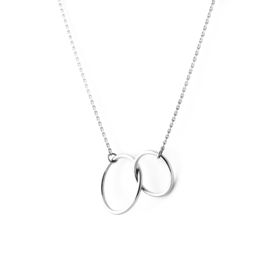 Minimalist silver necklace with rings VOVET