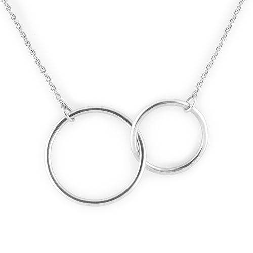 Minimalist gold necklace with rings VOVET